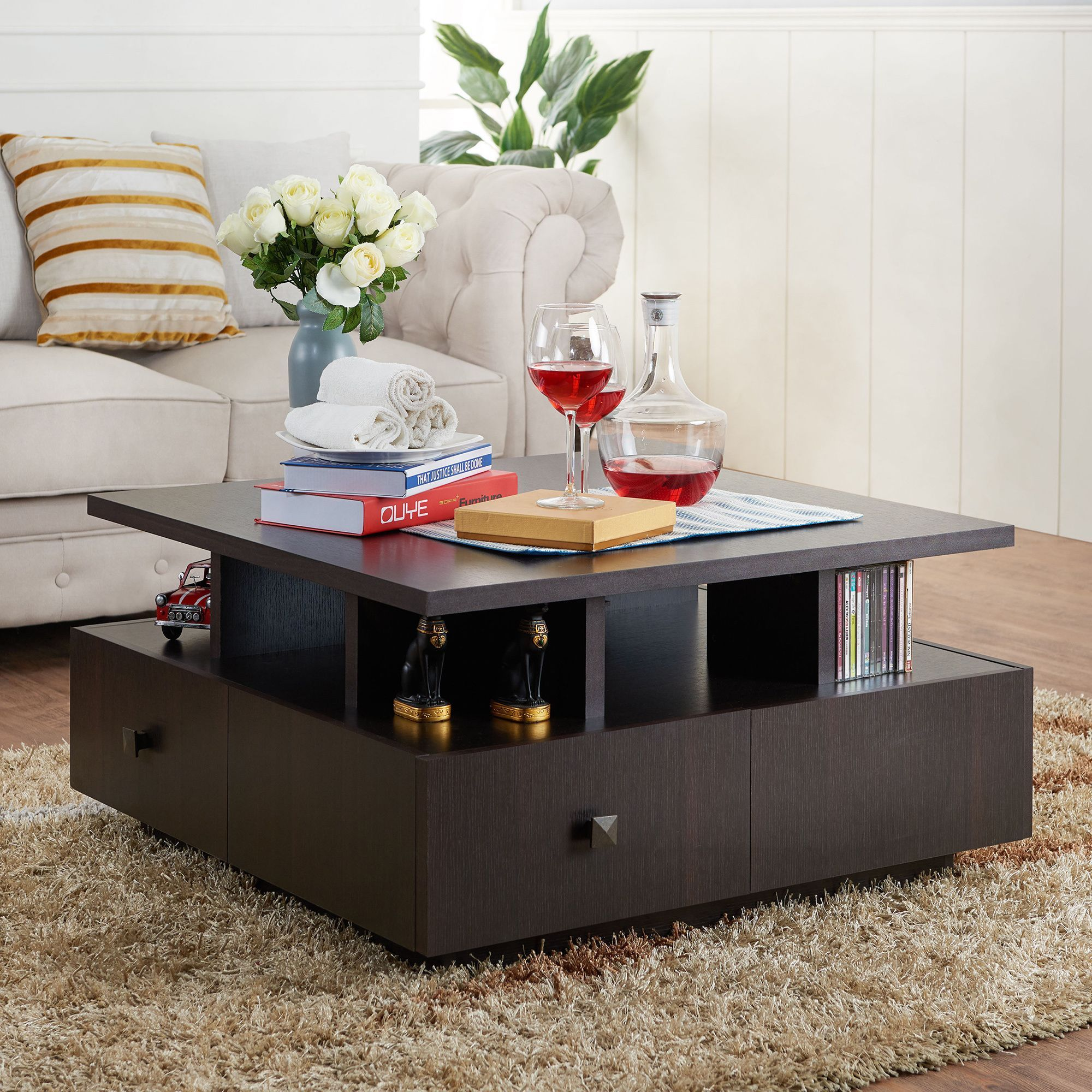 Furniture of america terrenal tiered espresso 4 drawer coffee furniture of america terrenal tiered espresso 4 drawer coffee table by furniture of america geotapseo Image collections