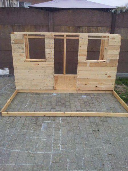 Como hacer una casita de madera con palets bricolaje - Como construir una casa con palets ...
