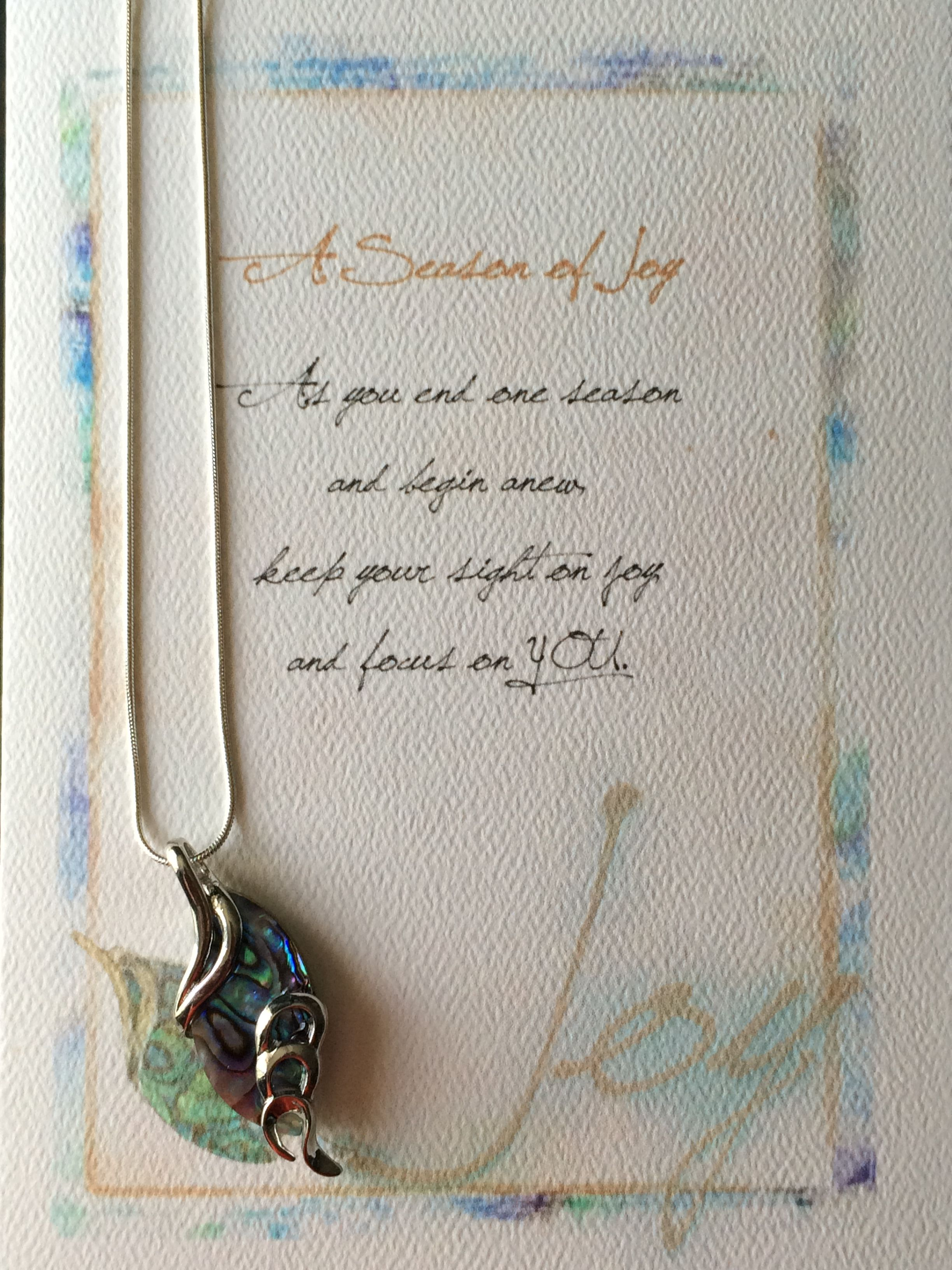 The greeting card reads a season of joy as you end one season the greeting card reads a season of joy as you end one season kristyandbryce Image collections