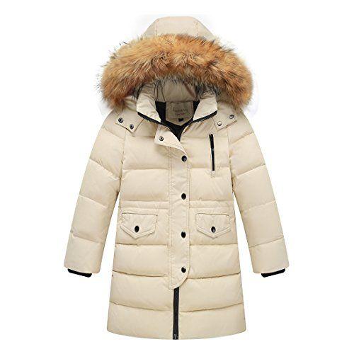 daf273620 MissMay Kids Big Girls  Down Puffer Jacket Parka Coat Hood Fur ...