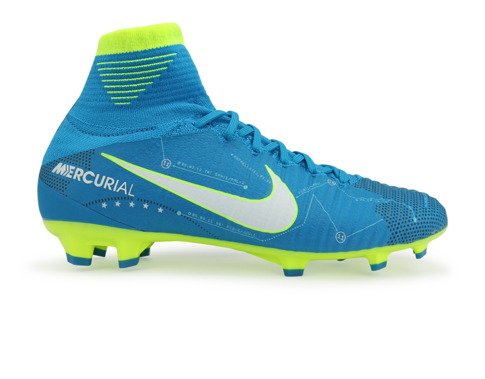 4c56cdc1758 Nike Kids Mercurial Superfly DF Neymar Jr FG Blue Orbit White ...