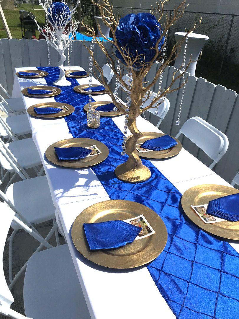 12 X108 Royal Blue Taffeta Pintuck Table Runner In 2020 Royal Blue Wedding Theme Blue Themed Wedding Royal Blue Wedding Decorations