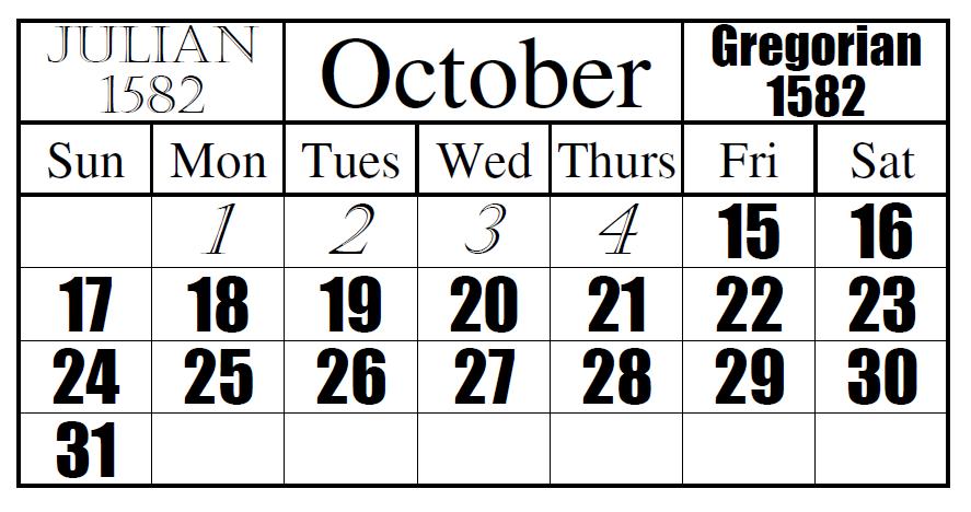 Julian To Gregorian Date Change Conversion Between Julian And Gregorian Calendars Wikipedia Calendar Day Book Julian