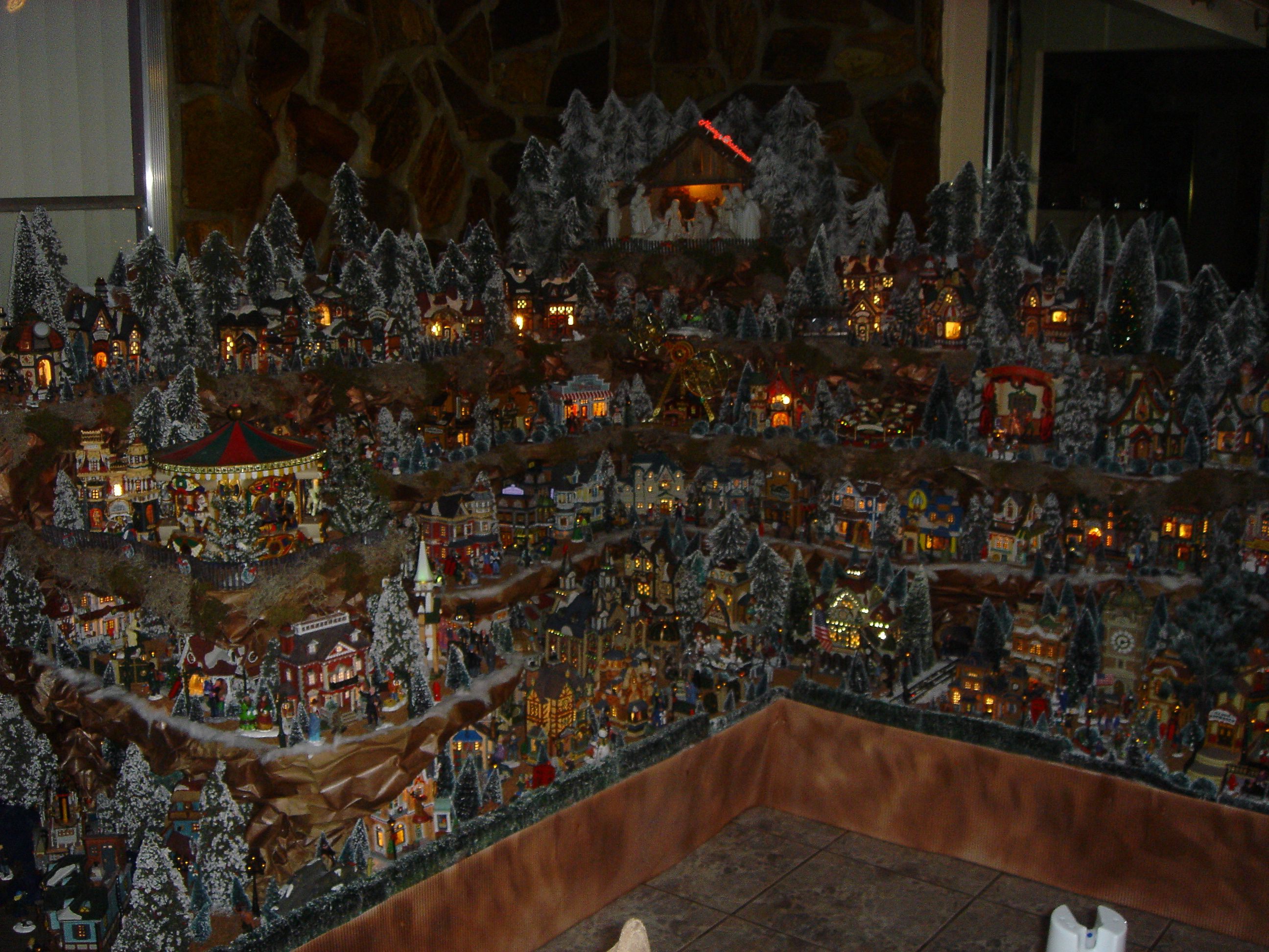 Large Christmas Village Display