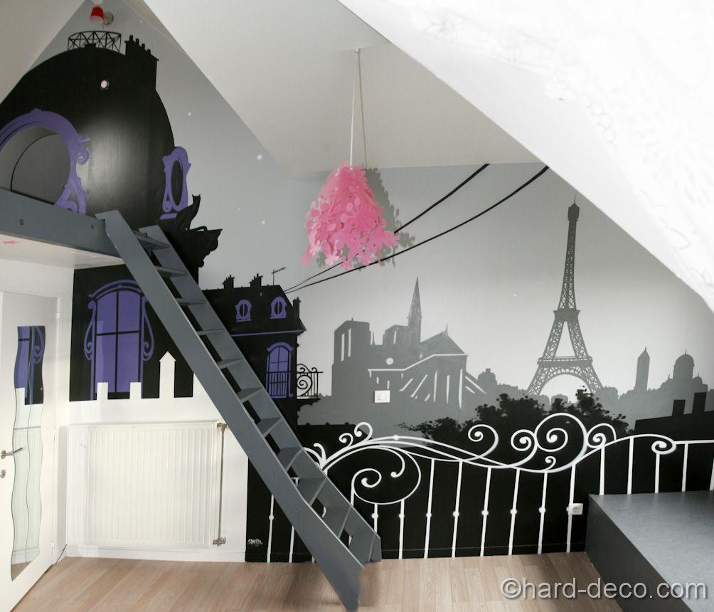 deco chambre ado style paris  Déco chambre thème paris, Deco