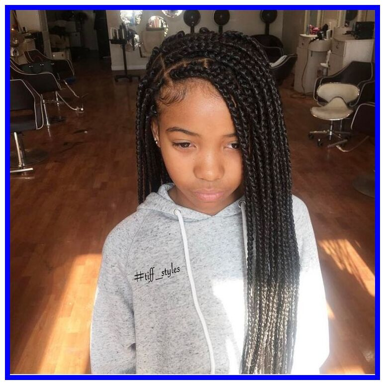 80 Reference Of Kids Braid Styles Weave In 2020 Kids Braided Hairstyles Hair Styles Kids Box Braids