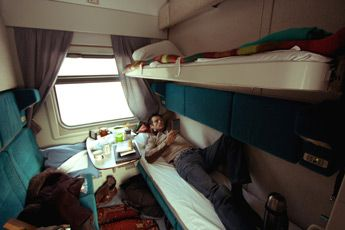 4 berth sleeper on train 19 from beijing to moscow for Trans siberian railway cabins