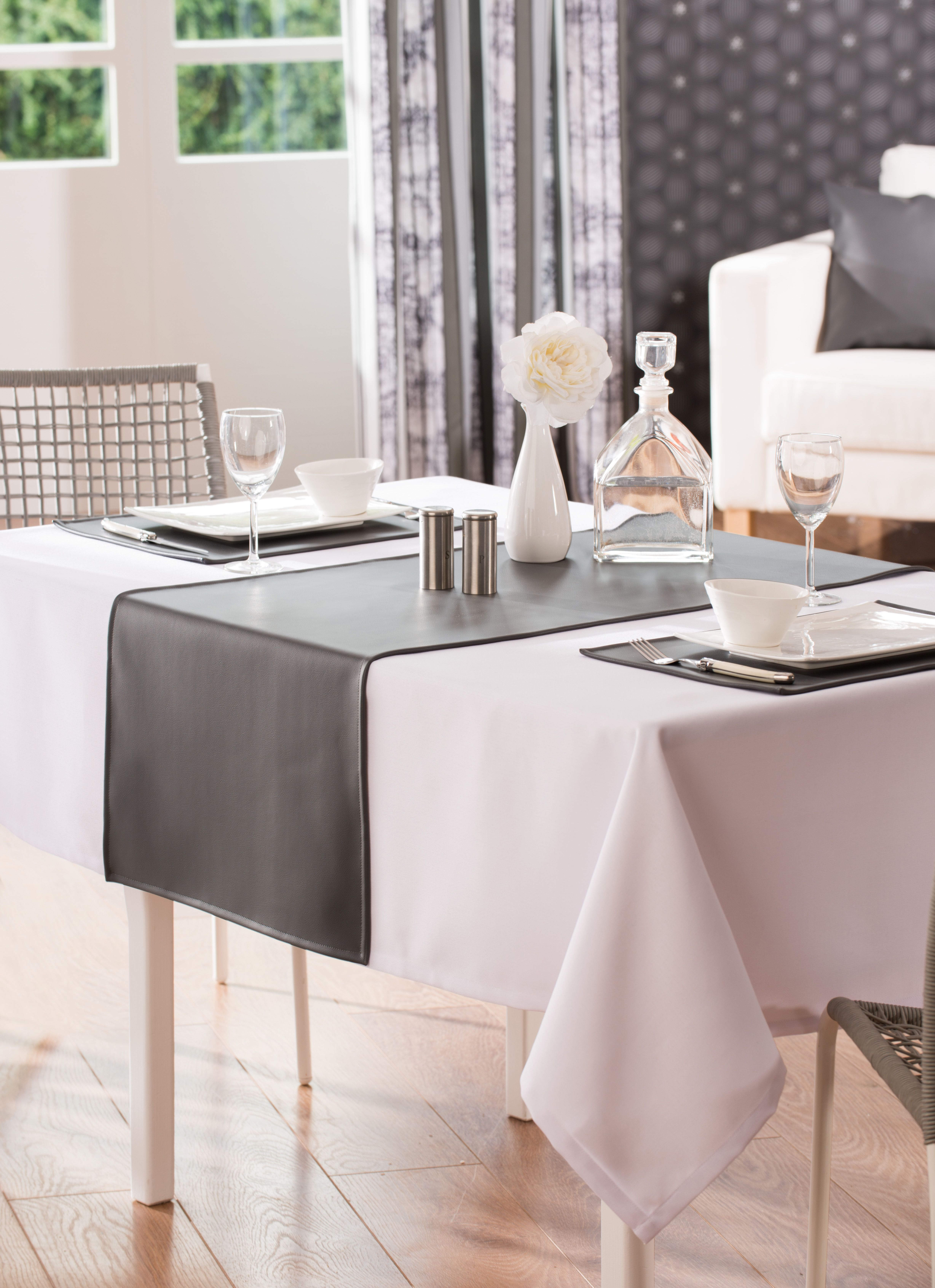 Chemin De Table Spirit Simili Cuir Simili Cuir Table Linge De Table