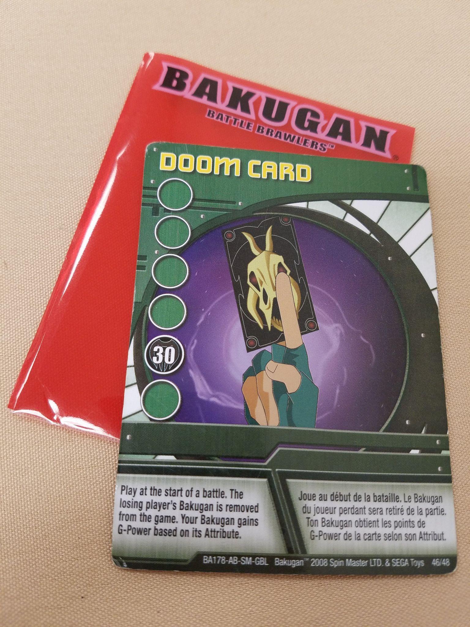 Bakugan Doom Card Battle Brawlers Bakugan Playing Card In