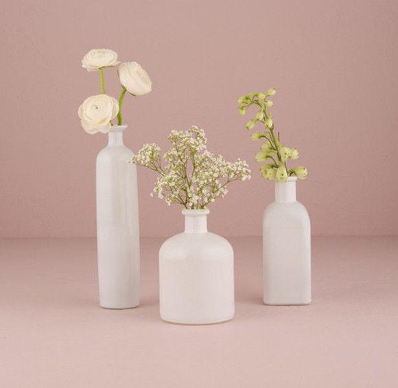 diy hochzeit tischdeko tipps selbst gemachte blumen vasen. Black Bedroom Furniture Sets. Home Design Ideas