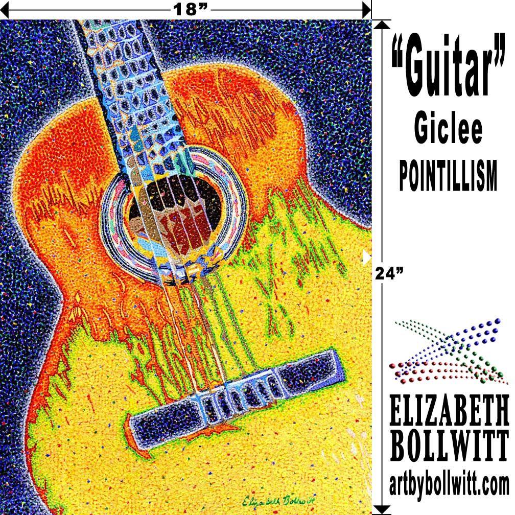 Bitcoin accepted.. Guitar art for sale at www.artbybollwitt.com ...