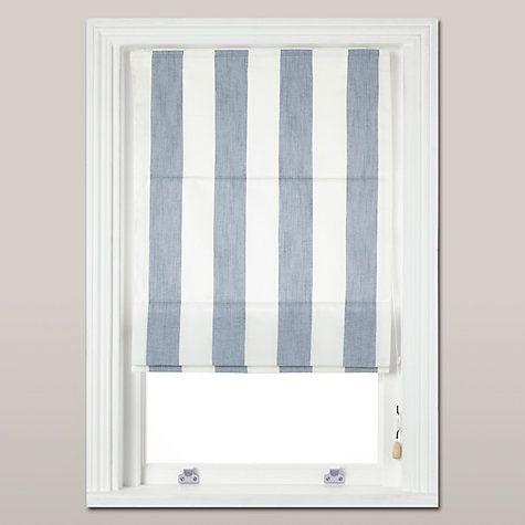 Buy John Lewis Penzance Stripe Roman Blind Blue Online At