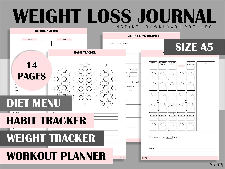 #gesundheitsplaner #gewichtsverlust #grehouseroom #druckbare #printable #beilagen #tracker #planner...