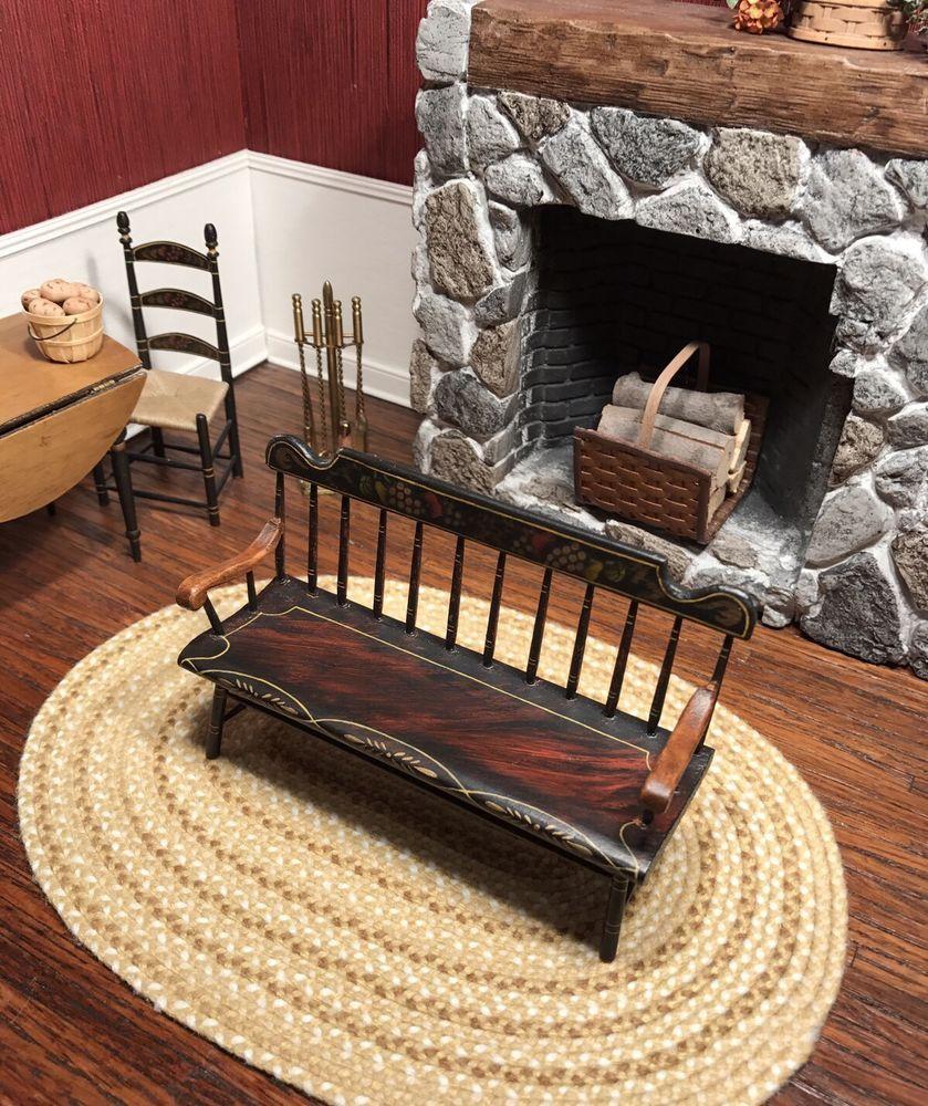 Dollhouse Miniature Artisan Signed Hand Painted Hillhouse