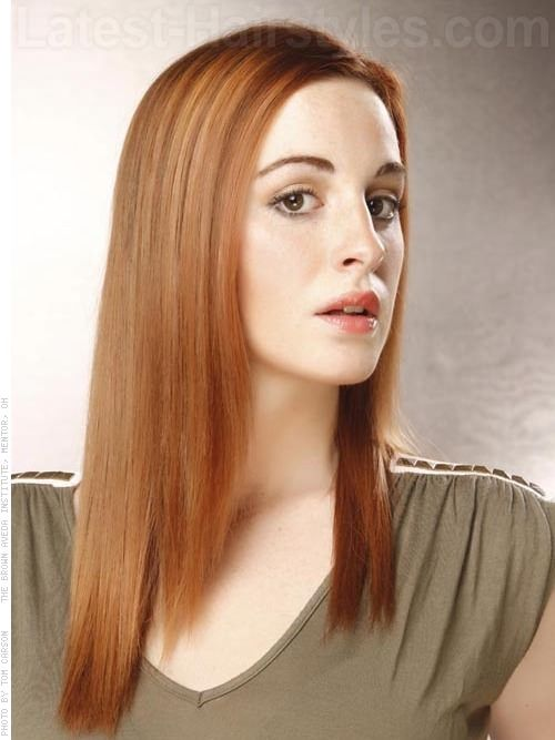 bf93d long red casual hair side
