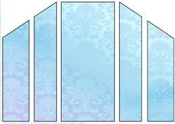 Blue Gradient Damask Theatre Card Base on Craftsuprint - View Now!