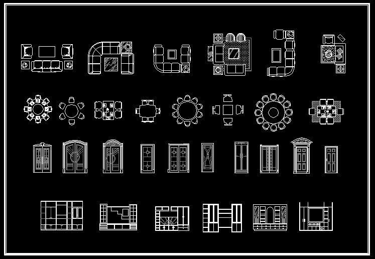Interior Design 2D Blocks-CAD Library | AutoCAD Blocks | AutoCAD Symbols