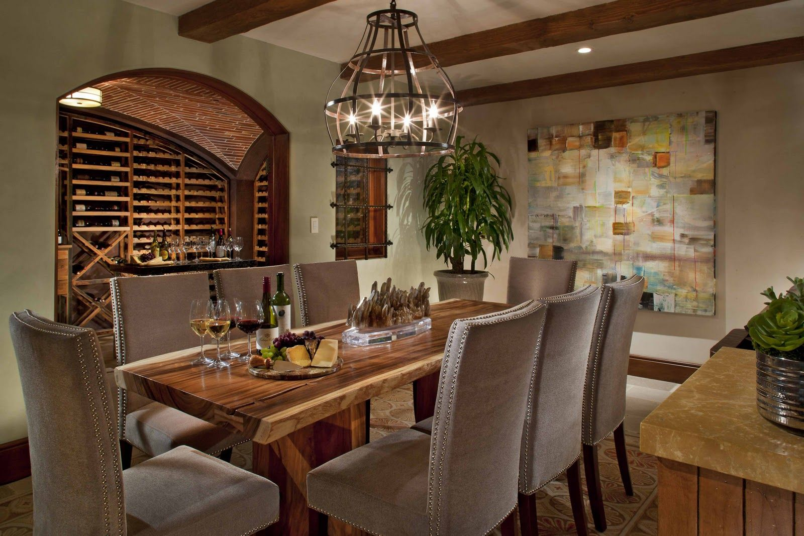Wine Cellar With Dining Room   Home Design And Home Interior Photo . Part 75