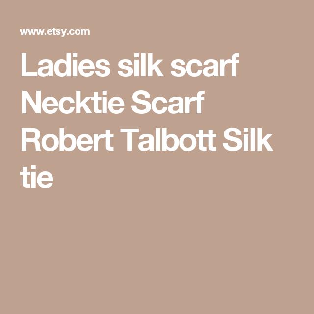 34fb794b7e49 Ladies silk scarf Necktie Scarf Robert Talbott Silk tie Silk Neck Scarf,  Barrette Clip,
