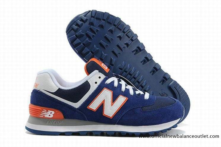 New Balance 574 Men Blue White Orange ML574BWO