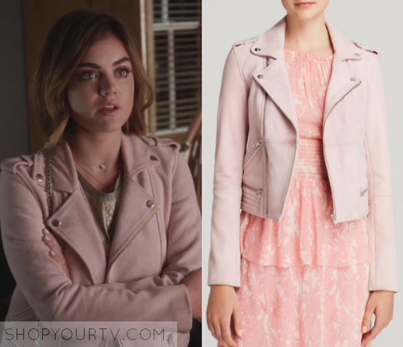 Pretty Little Liars: Season 6 Episode 12 Aria's Pink Leather ...