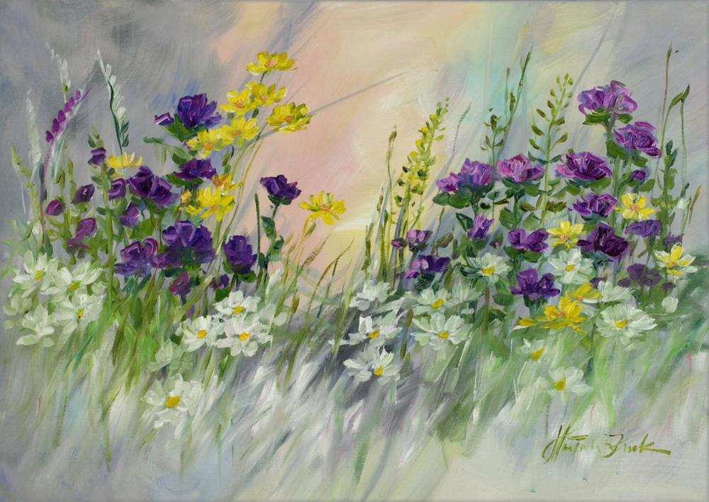 Galeria Sztuki Malgorzaty Kruk Recznie Malowane Obrazy Olejne Pejzaze Na Plotnie Na Zamowienie Ogrodowy Zakatek Amazing Flowers Flowers Amazing