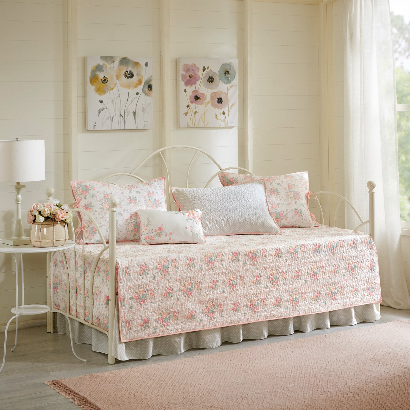 Serendipity 6 Piece Cotton Percale Daybed Cover Set by