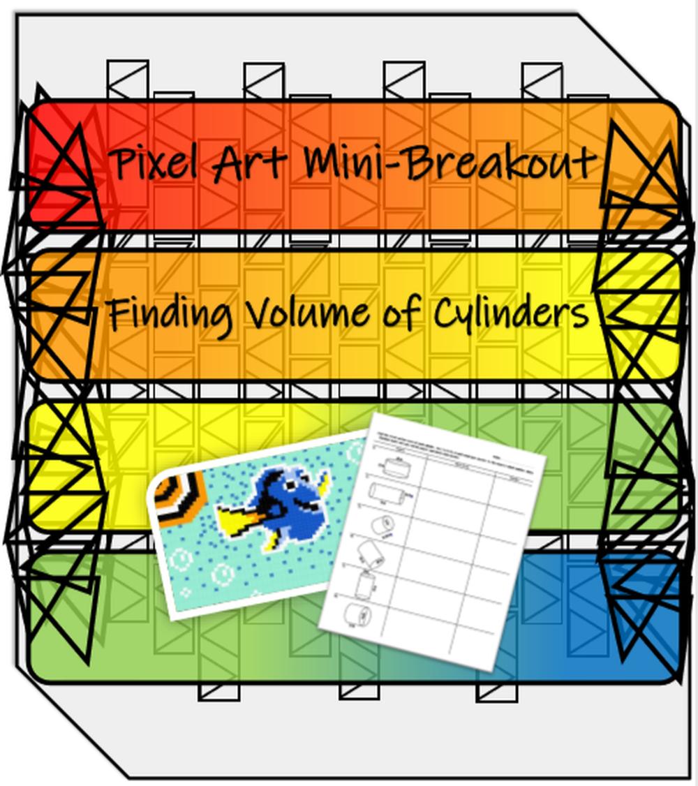 Volume Of Cylinders Pixel Art Mini Breakout Pixel Art Volume Activities Play The Video [ 1126 x 1000 Pixel ]