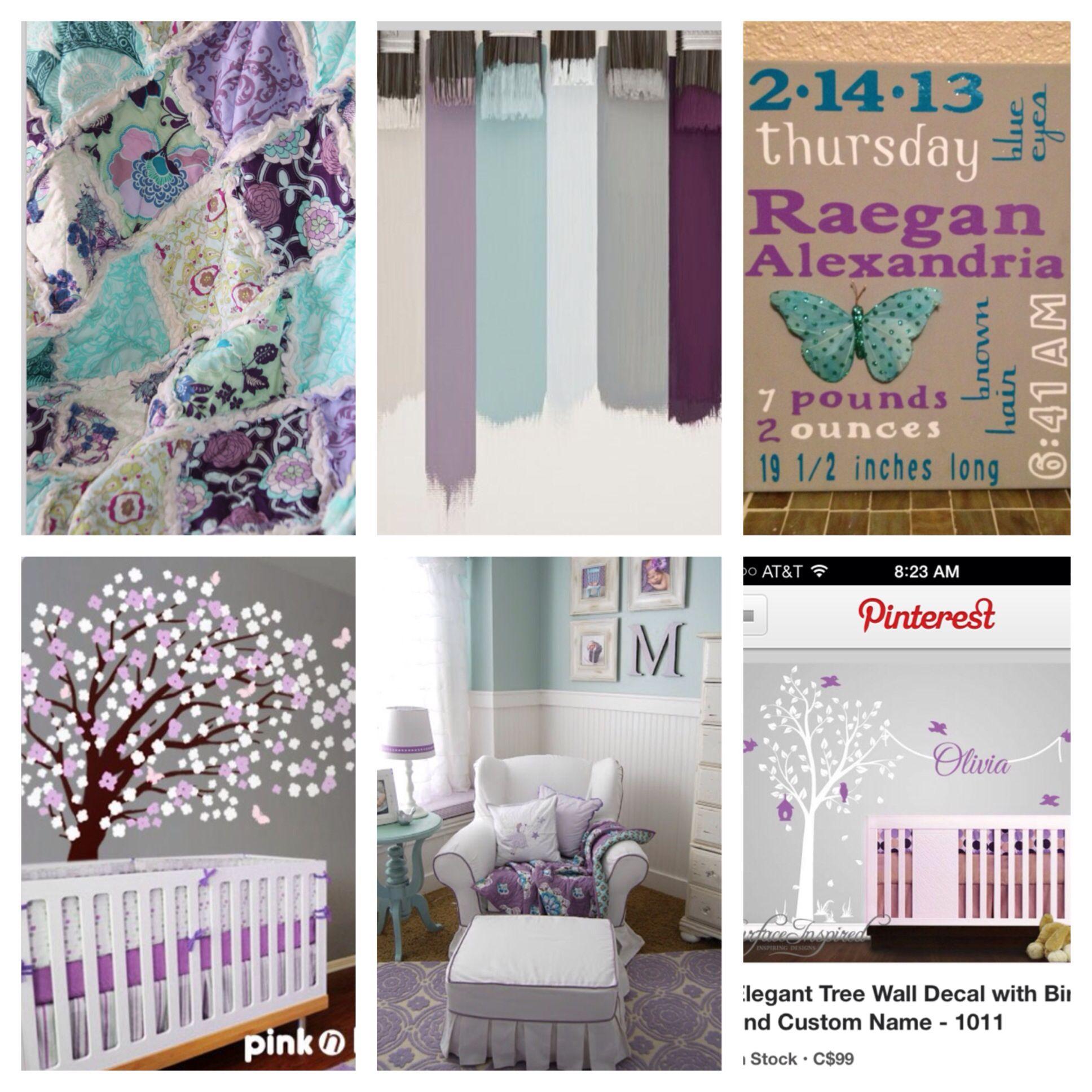purple & teal nursery inspiration | baby love | pinterest | girls