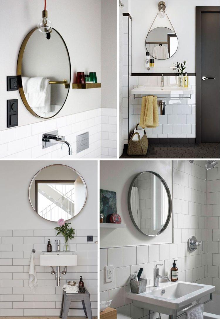 Easy Bathroom Decor Refresh: A Round Bathroom Mirror | Dream ...