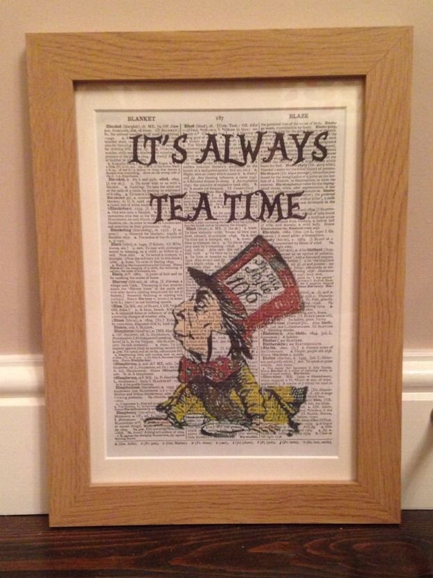 Vintage Alice In Wonderland Quote Dictionary Print Page Wall Art ...
