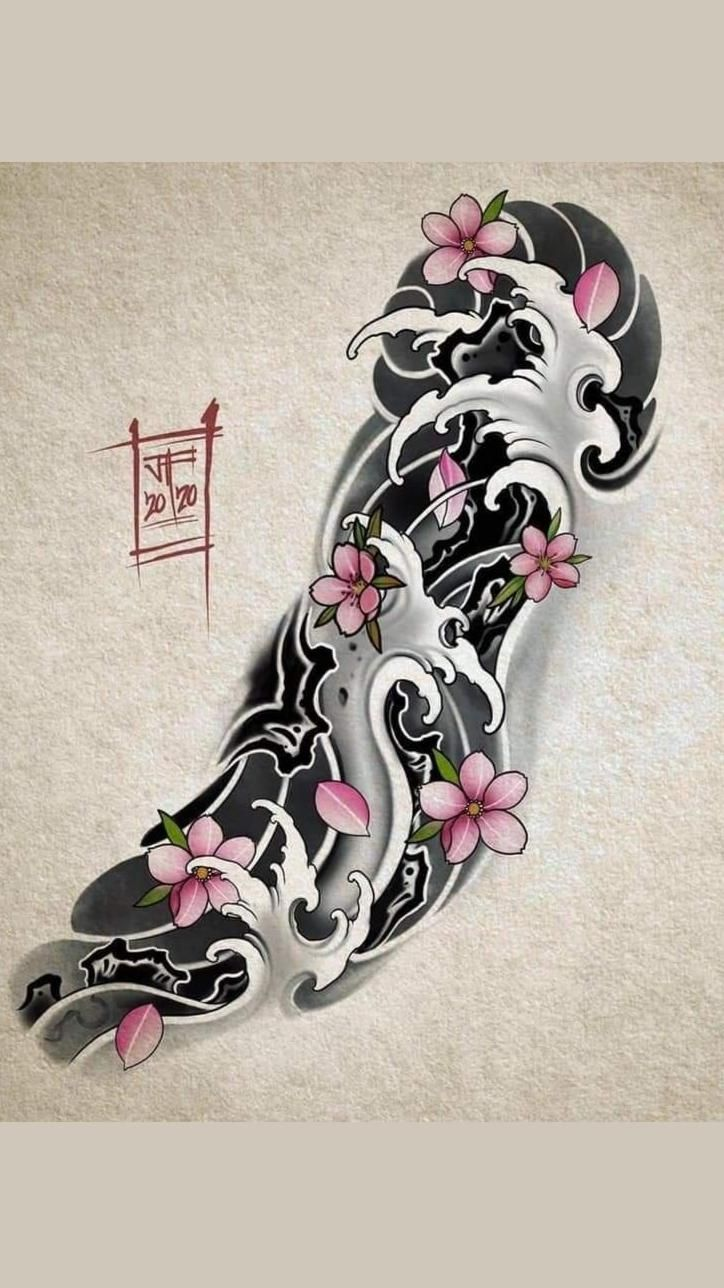 Japanese Sleeve Tattoo Drawing