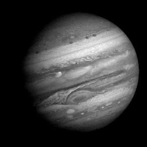Jupiter is the 5th planet from the Sun and the largest planet within the Solar System. It is a gas giant with mass one-thousandth that of the Sun but is two and a half times the mass of all the other planets in our Solar System combined.