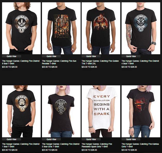 399bcc5bc570 ICYMI: #CatchingFire merchandise (T-shirts, new mockingjay pins) now on