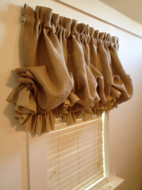 How To Sew Ruffled Kitchen Curtains Ruffle Curtains Diy Curtains No Sew Curtains