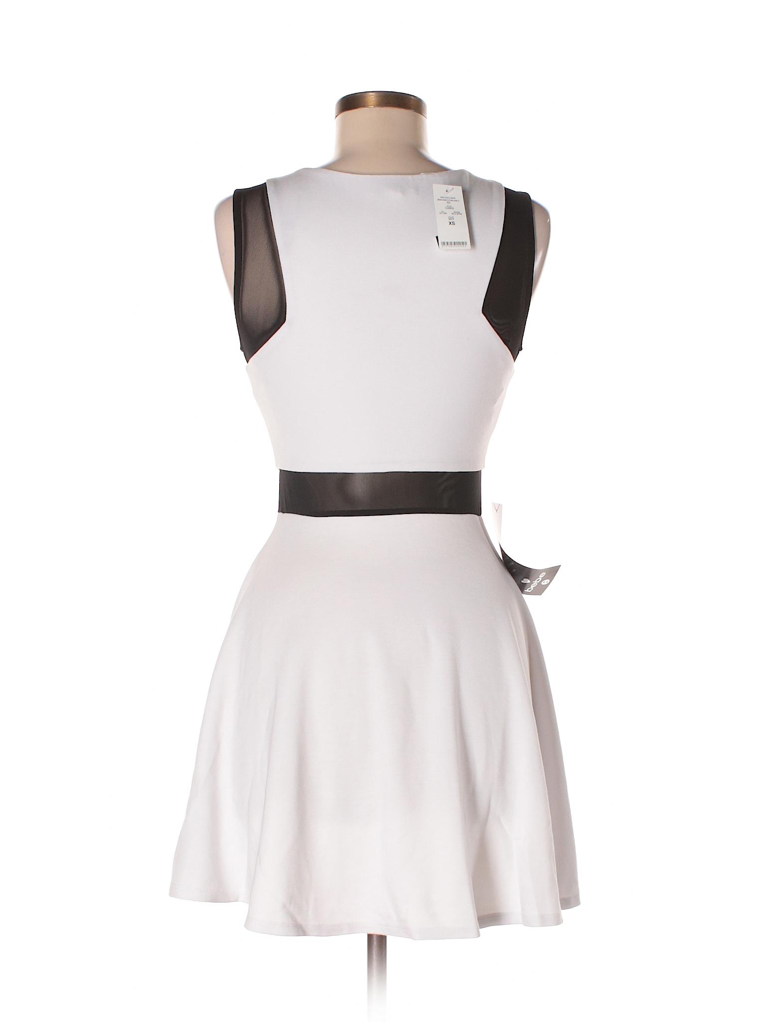 Bebe Casual Dress Size 0 White Women S