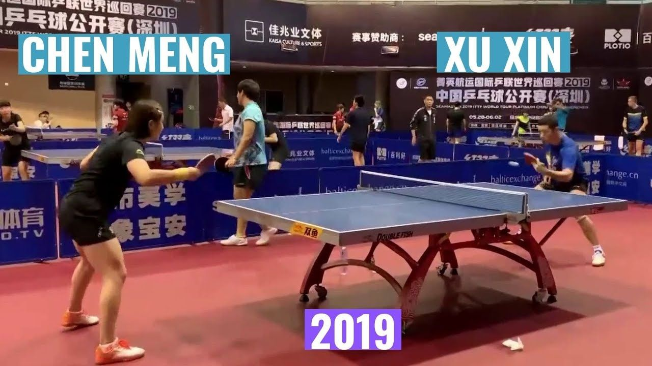 Xu Xin Chen Meng Training At China Open 2019 Private Recording Training Video Table Tennis Chen
