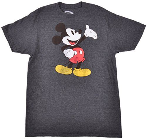 Disney Mens Classic Mickey Mouse Distressed TShirt * Check this awesome product by going to the link at the image.