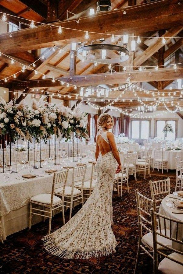 20 Gorgeous Rustic Country Barn Wedding Decoration Ideas #weddingreception