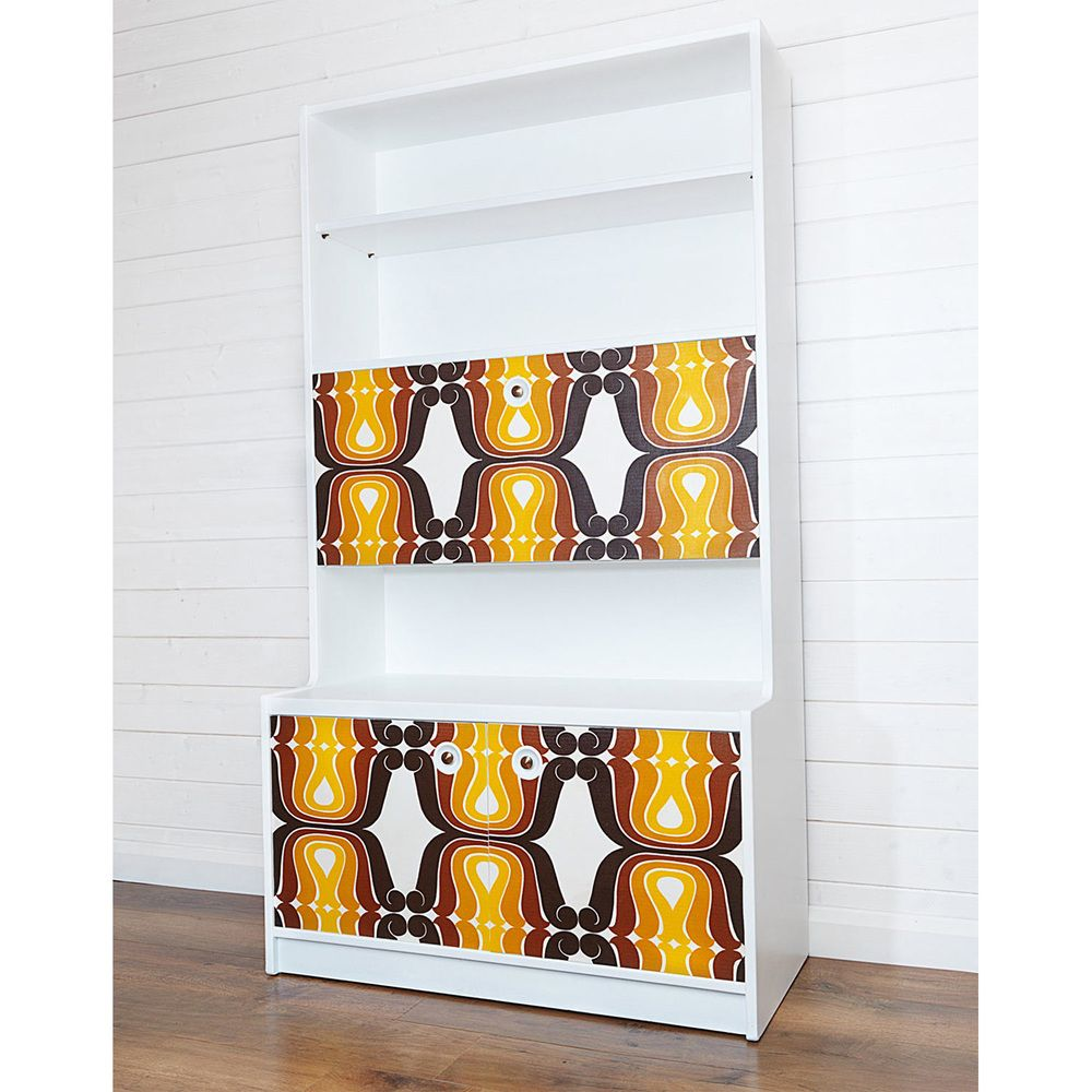 Upcycled Flower Power Wall Unit | FurnitureEtc