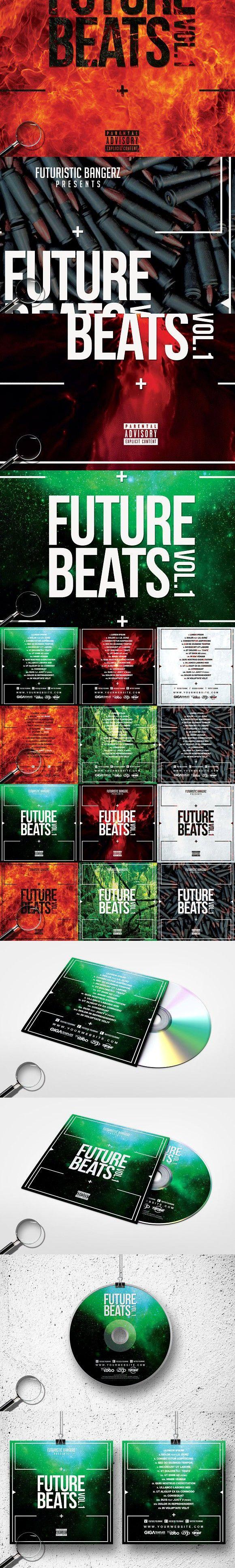 Future Beats 6in1 Cover Template Studio Graphic Design