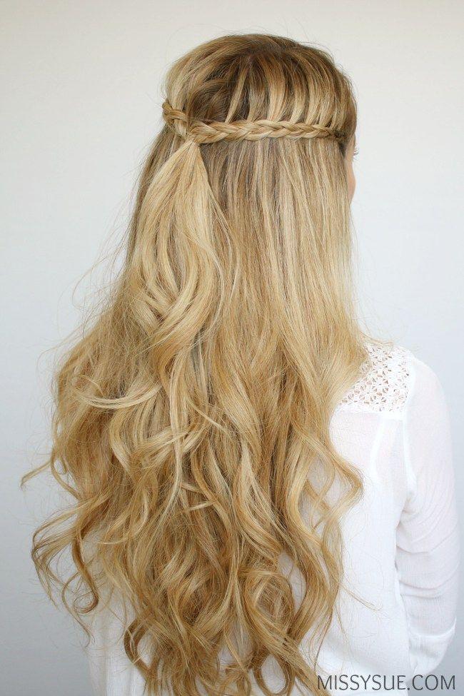 mini braids and beach waves