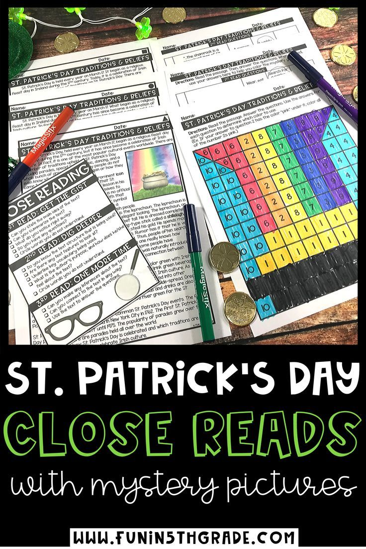 St. Patrick's Day Reading Comprehension Passages St