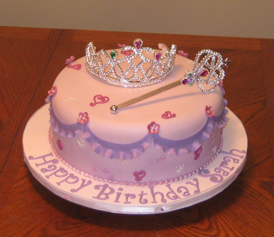 Amazing Little Girls Birthday Cakes Princess Cake With Wand Tiara