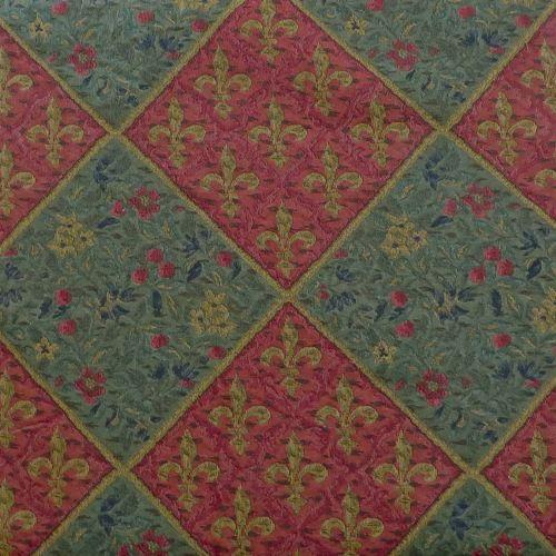 Decorative Gothic Fleur Des Lis Jewel Tone Medieval Motif Tapestry