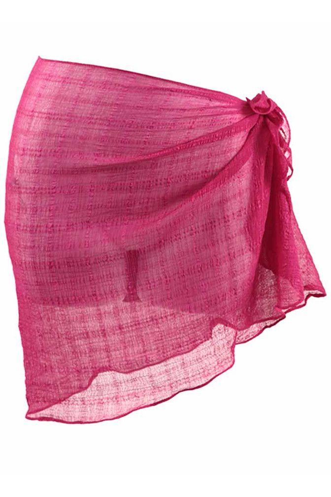 cd0a3d473f8a3 Check Weave Short Sarong Beach Wrap – Luxury Divas | Summer Sarongs ...