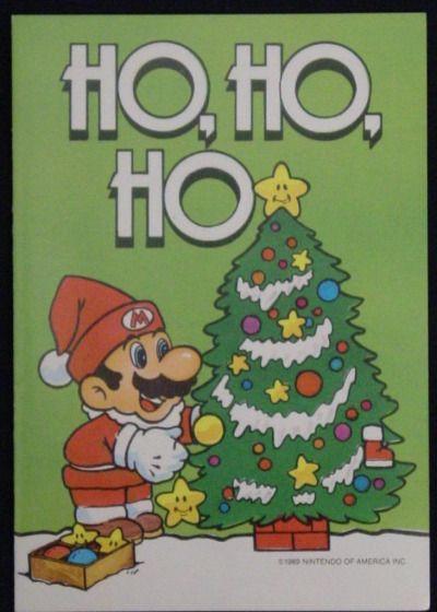 Super Mario World Christmas.Super Mario Greeting Card Ho Ho Ho Merry Christmas