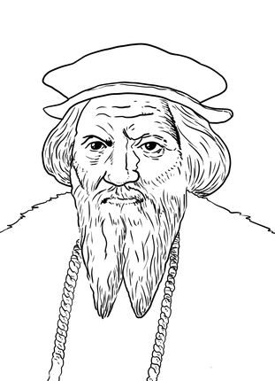 John Cabot coloring page SCA