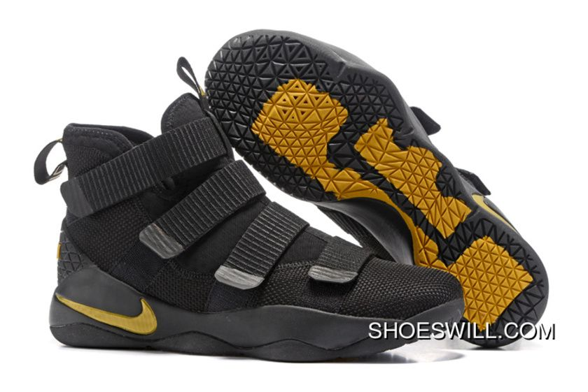 54671d34984 2017 Nike LeBron Soldier 11 Black Gold Best
