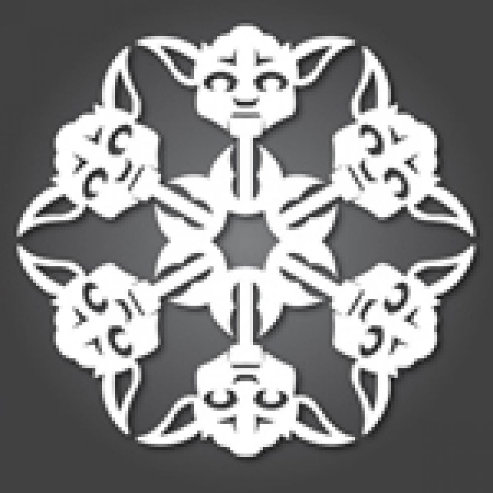 Cool Snowflake Template   www.topsimages.com